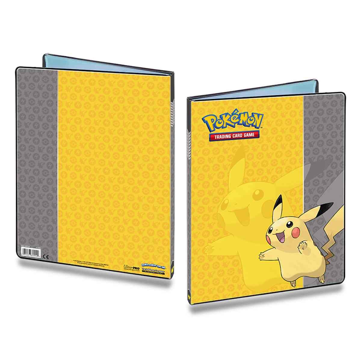 Pokemon Album Pikachu Ultra Pro 9 Bolsos 10 Folhas