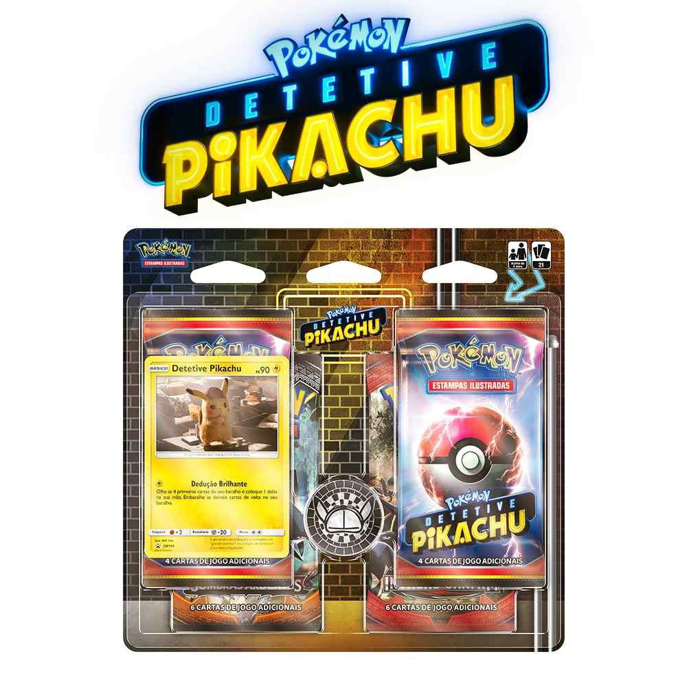 Pokemon Blister Quadruplo Detetive Pikachu Dossie