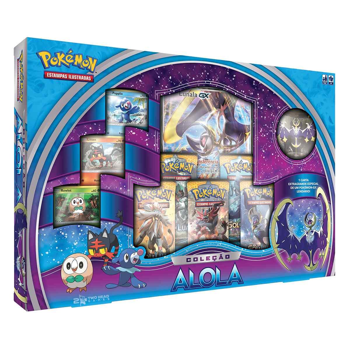 Pokemon Box Alola Lunala Gx Coleção Sol E Lua
