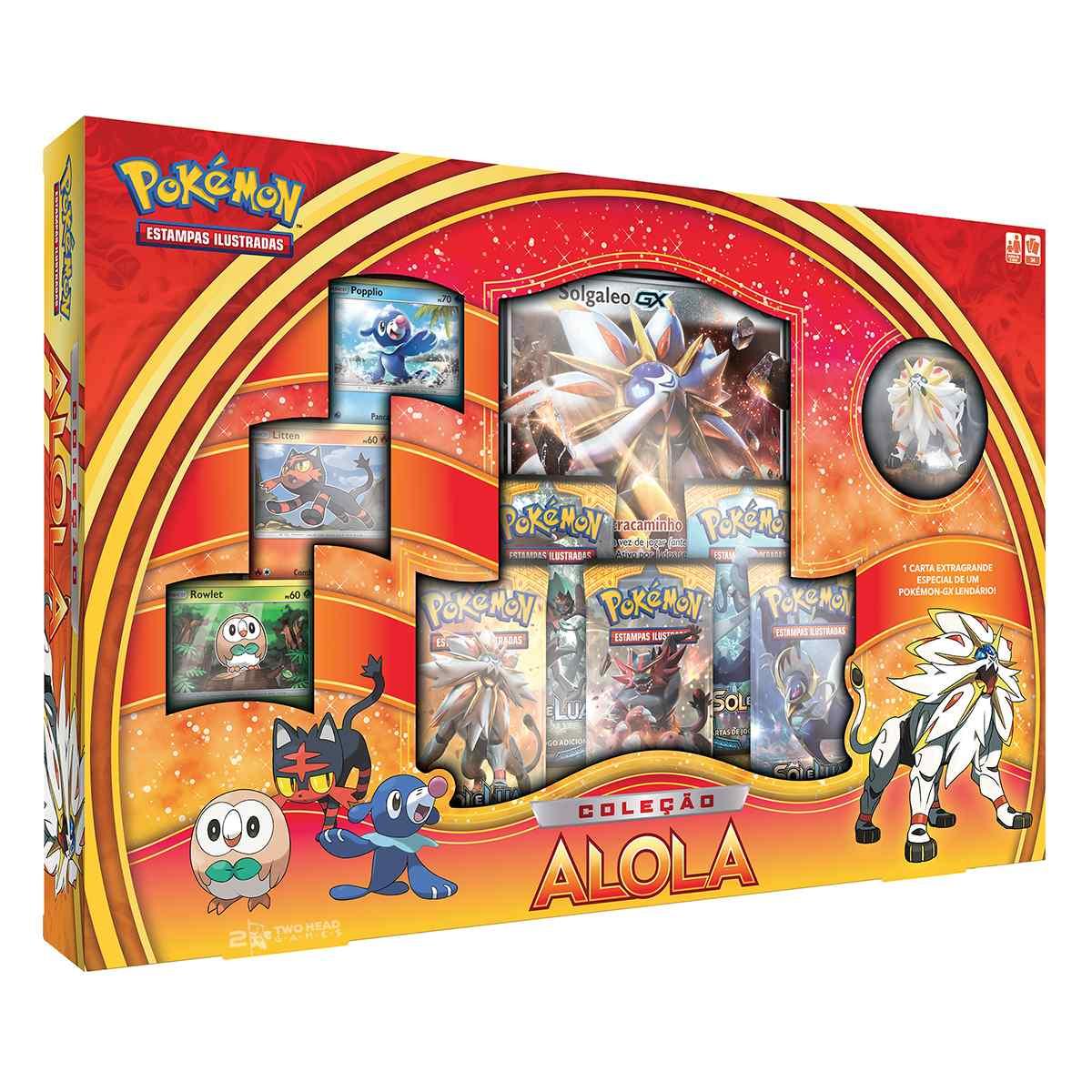 Pokemon Box Alola Solgaleo Gx Coleção Sol E Lua