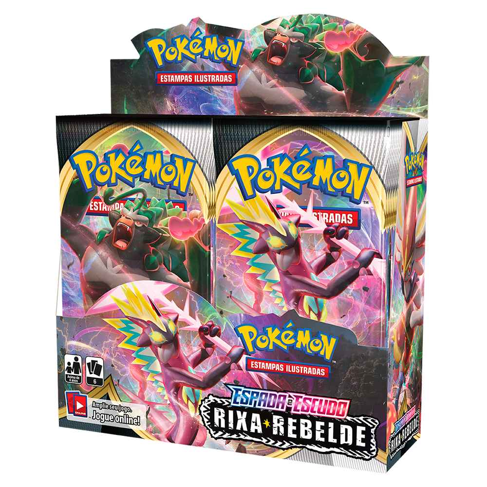 Pokemon Box Booster Espada e Escudo 2 Rixa Rebelde