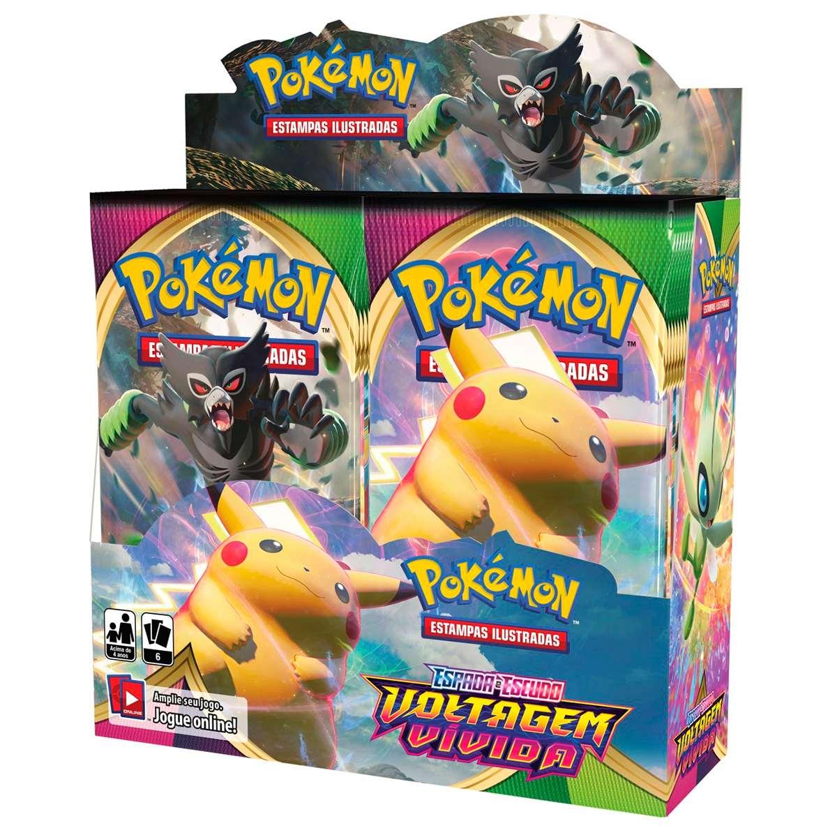Pokemon Box Booster Espada e Escudo 4 Voltagem Vivida