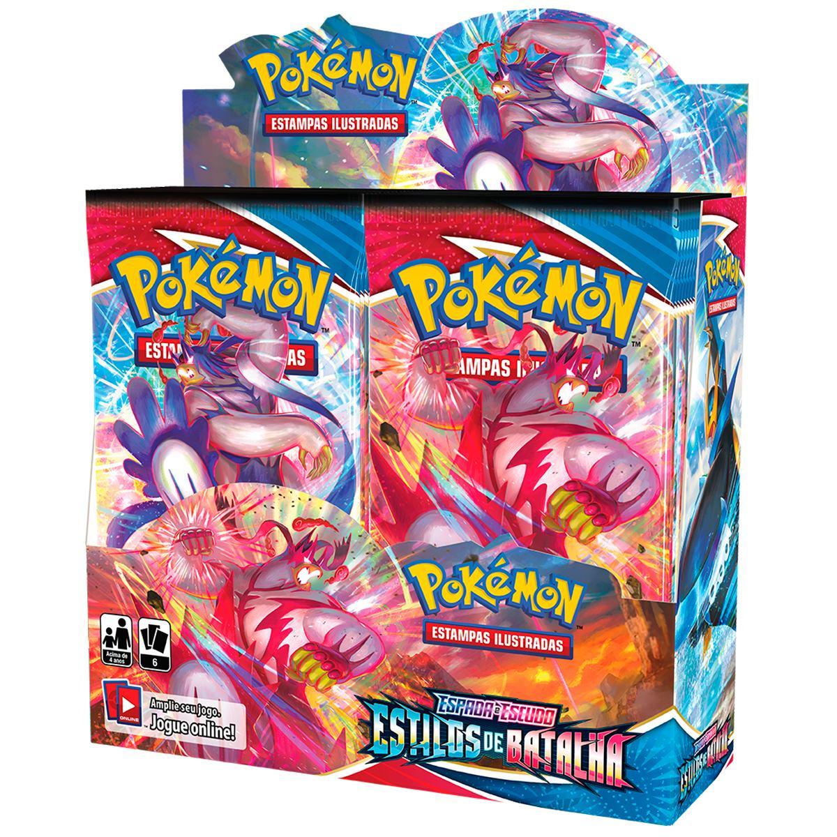 Pokemon Box Booster Espada e Escudo 5 Estilos de Batalha