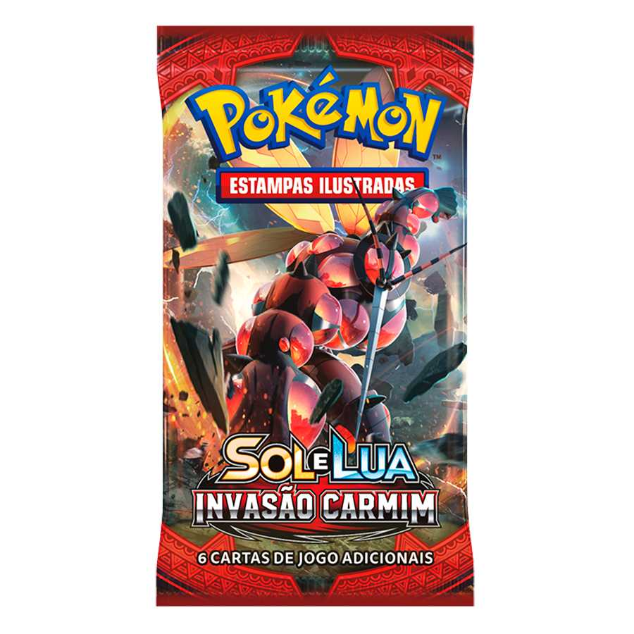 Pokemon Box Booster Sol e Lua 4 Invasão Carmim