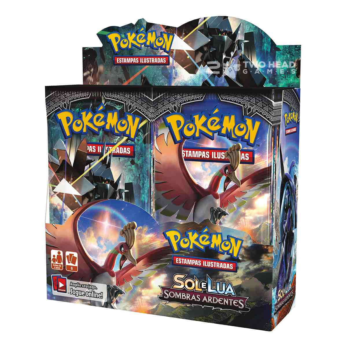 Pokemon Box Booster Sol e Lua Sombras Ardentes