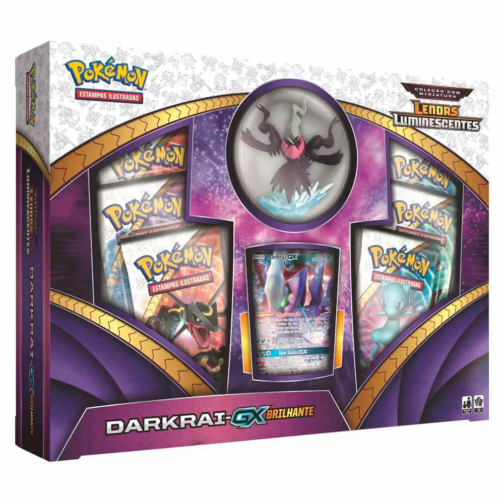 Pokemon Box Darkrai GX Brilhante Lendas Luminescentes
