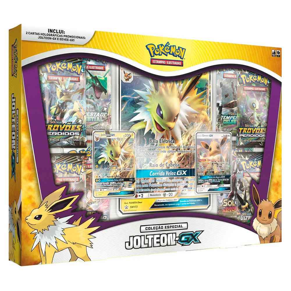 Pokemon Box Jolteon GX Coleção Especial Eevee