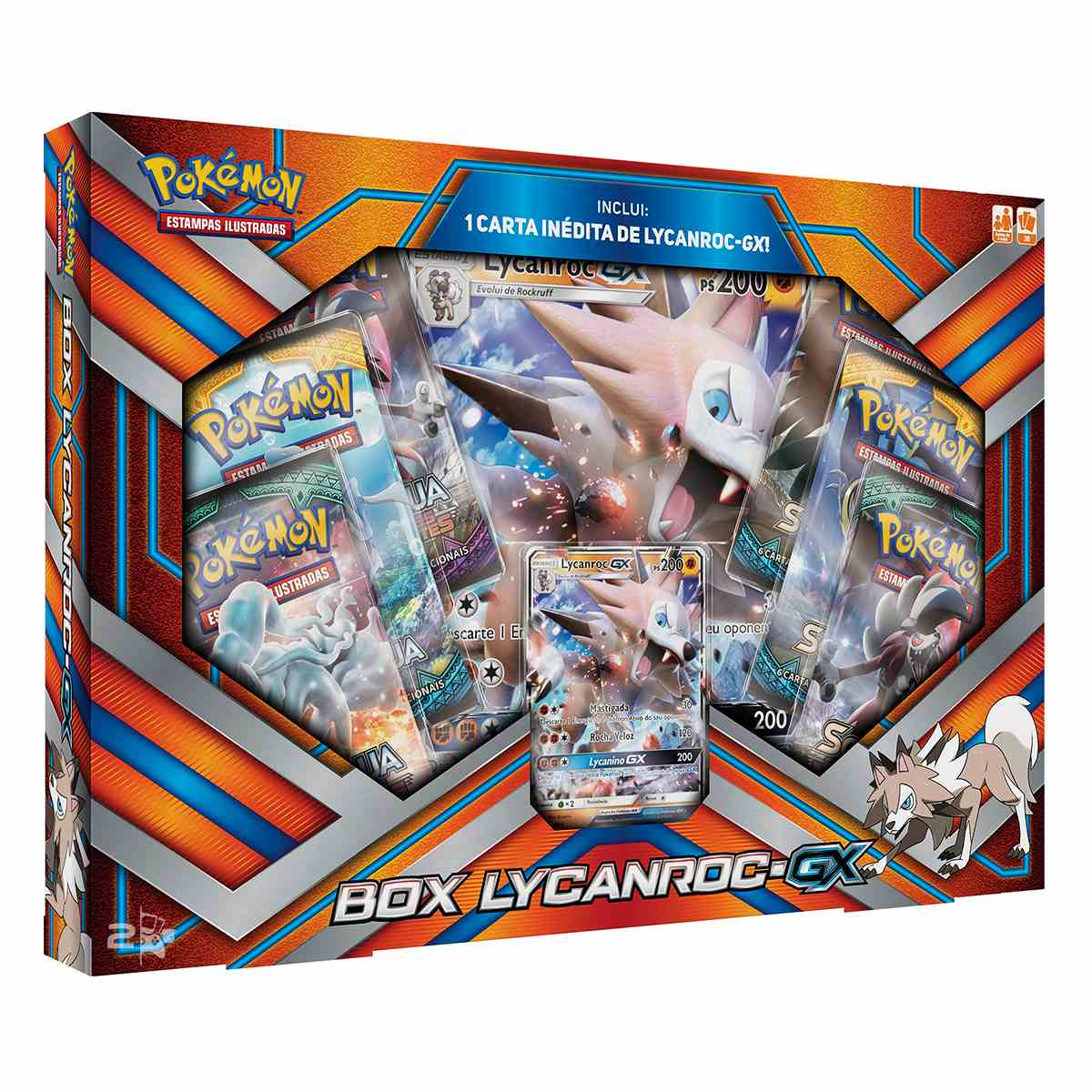 Pokemon Box Lycanroc Gx Extragrande