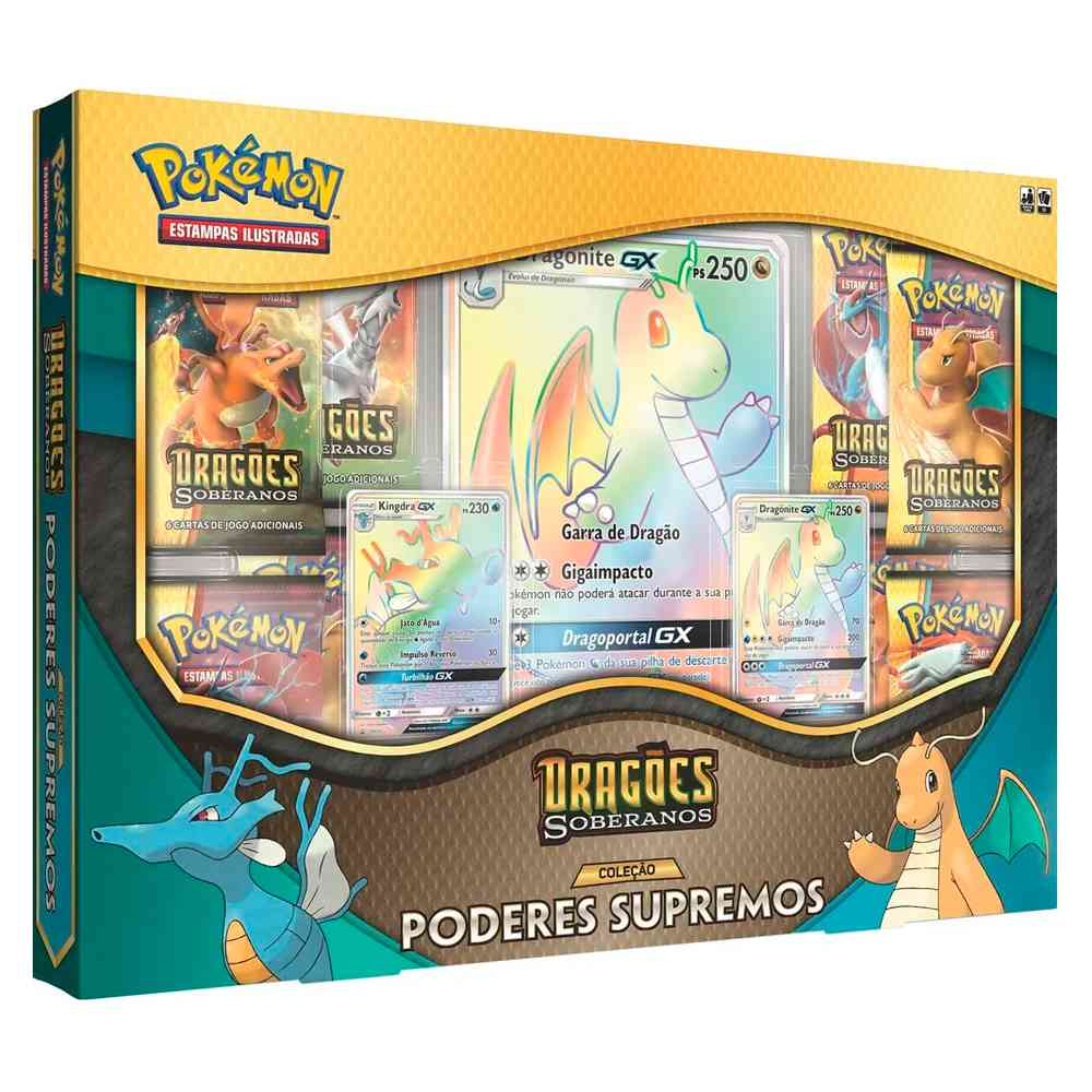 Pokemon Box Poderes Supremos Dragões Soberanos - Dragonite
