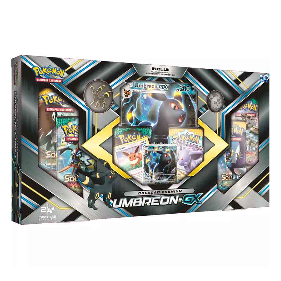 Pokemon Box Umbreon GX com Broche