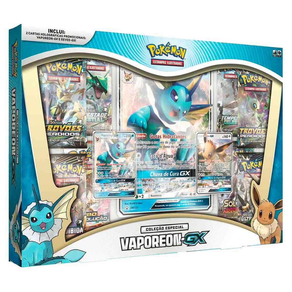 Pokemon Box Vaporeon GX Coleção Especial Eevee