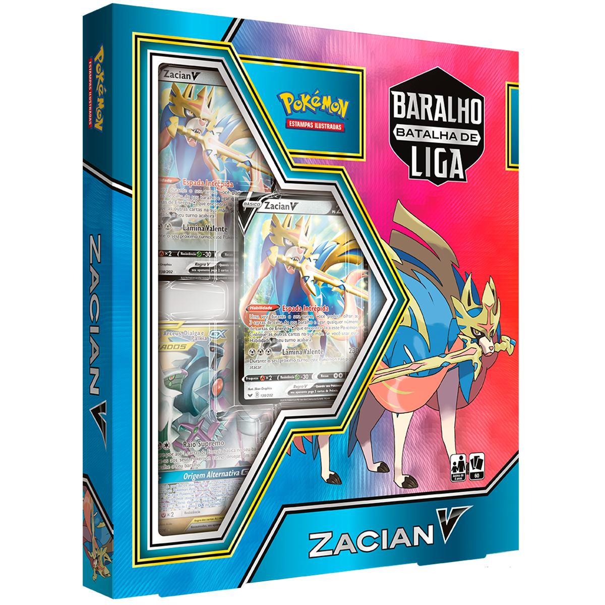 Pokemon Deck Baralha Batalha de Liga Zacian V