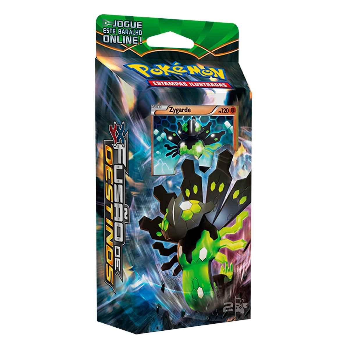 Pokemon Deck Fusão de Destinos XY10 Zygarde e Lugia