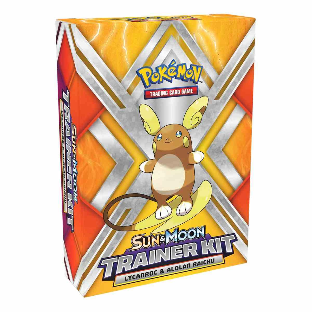 Pokemon Kit Treinador Lycanroc e Raichu de Alola