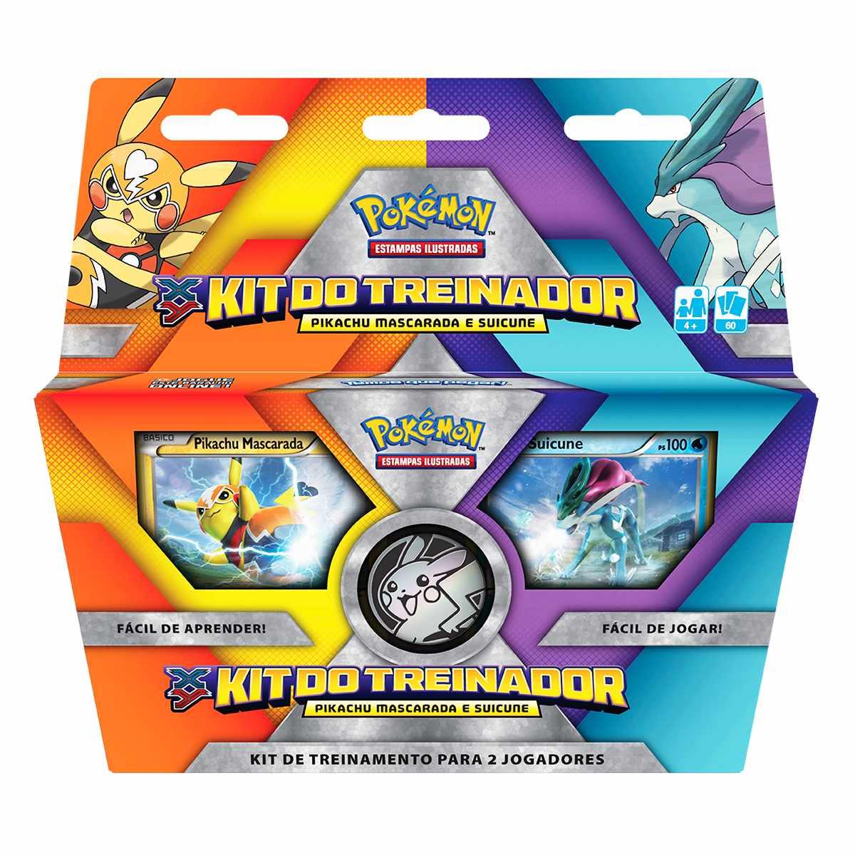Pokémon Kit Treinador Pikachu Mascarada e Suicune
