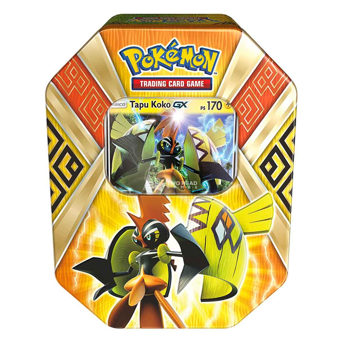 Pokemon Lata Guardiões das Ilhas Tapu Koko Gx