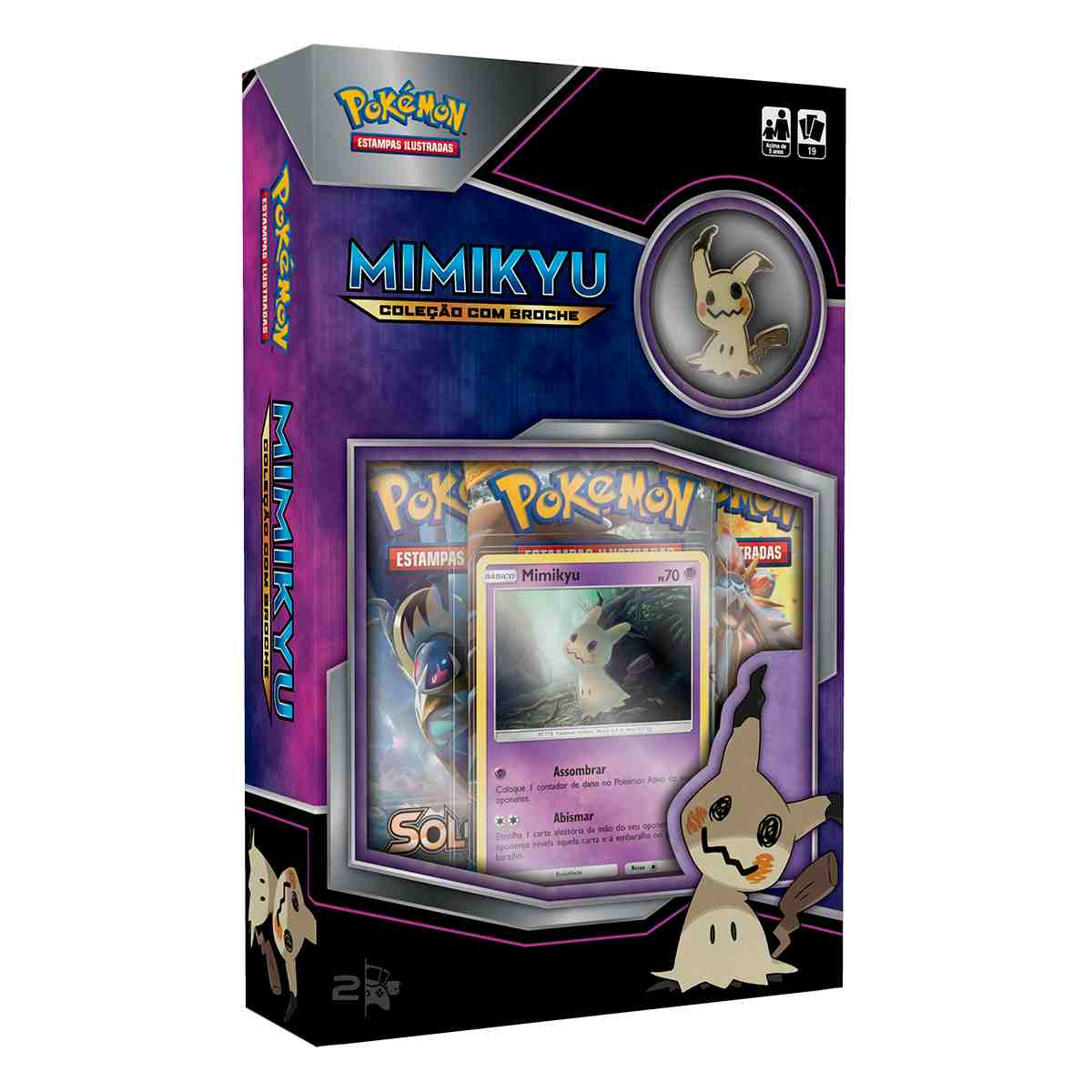 Pokemon Mini Box Mimikyu Com Broche