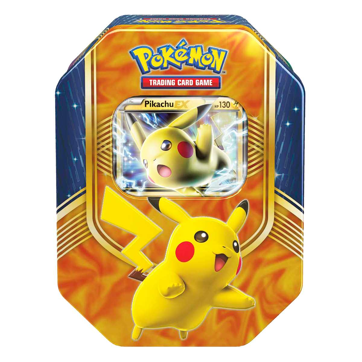 Pokemon Sol e Lua Lata Batalha de Coração Pikachu EX