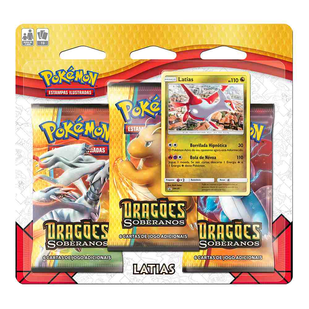 Pokemon Triple Pack Dragões Soberanos Latias Booster