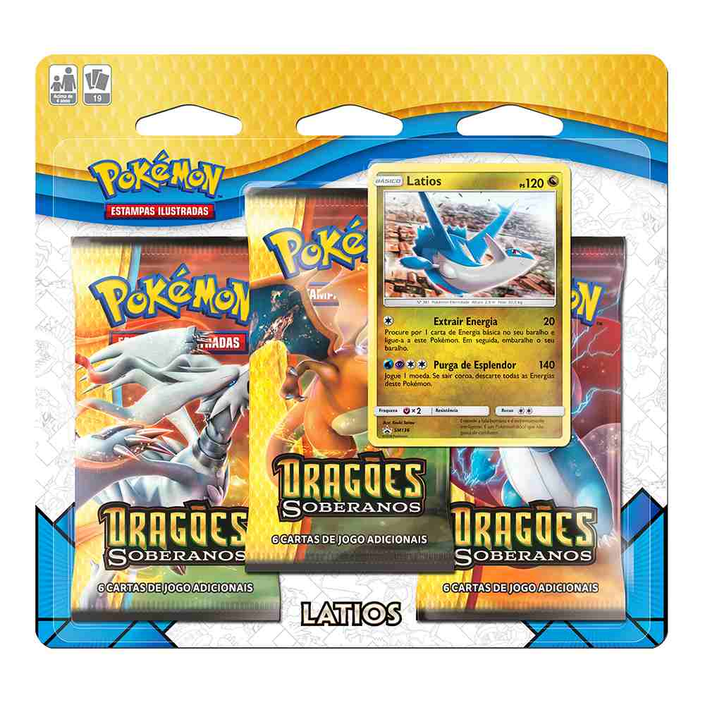 Pokemon Triple Pack Dragões Soberanos Latios Booster