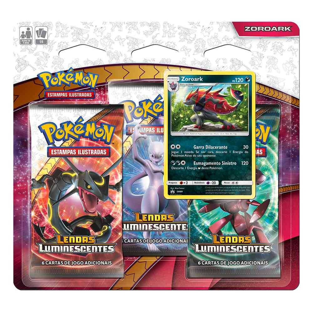 Pokemon Triple Pack Lendas Luminescentes Zoroark