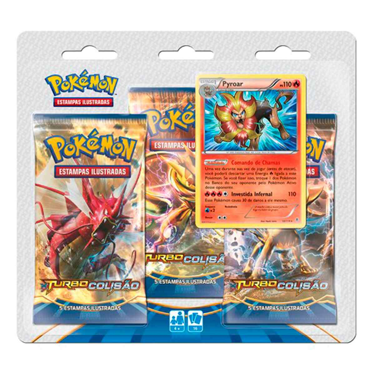 Pokémon Triple Pack Pyroar XY 9 Turbo Colisão