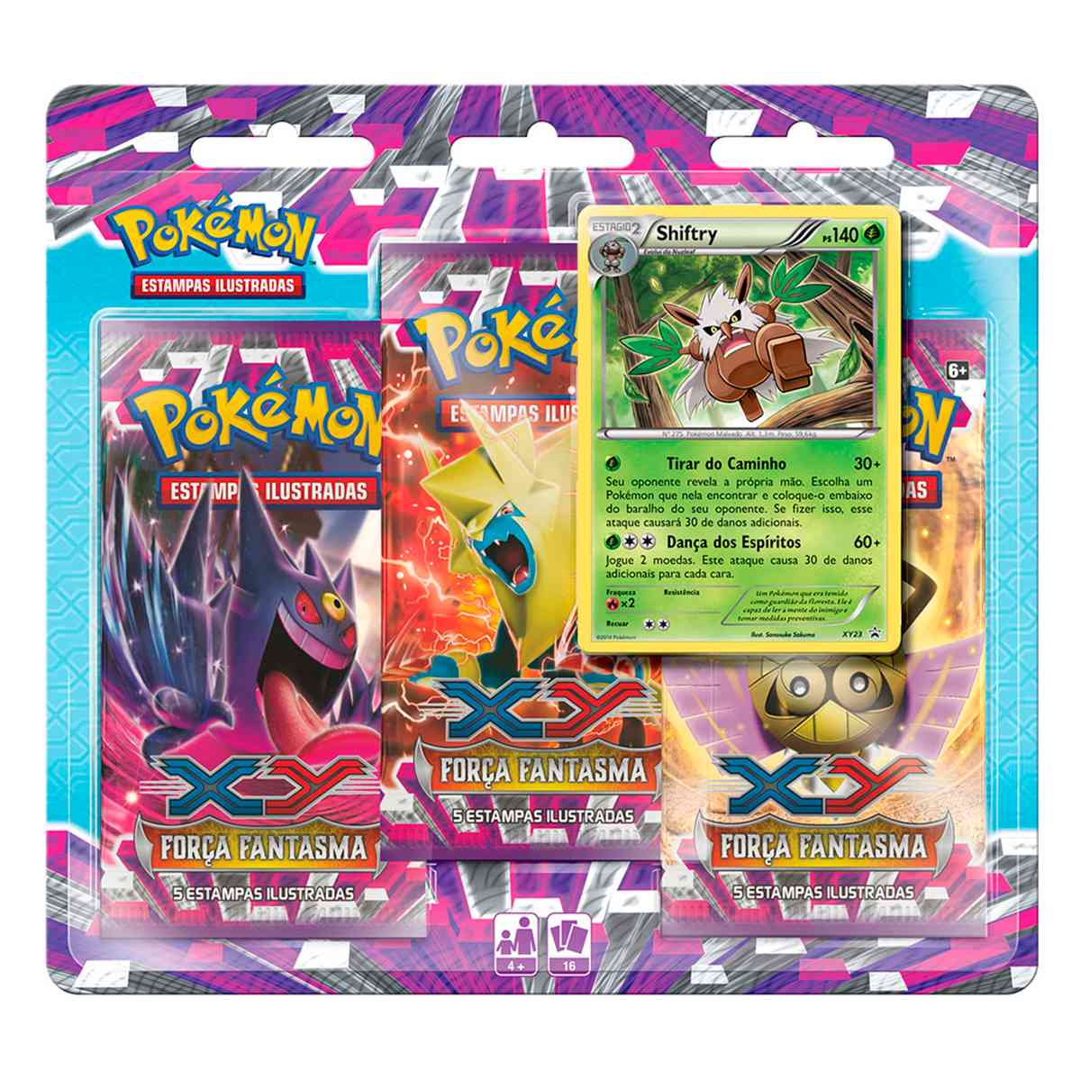 Pokémon Triple Pack Shiftray XY 4 Força Fantasma