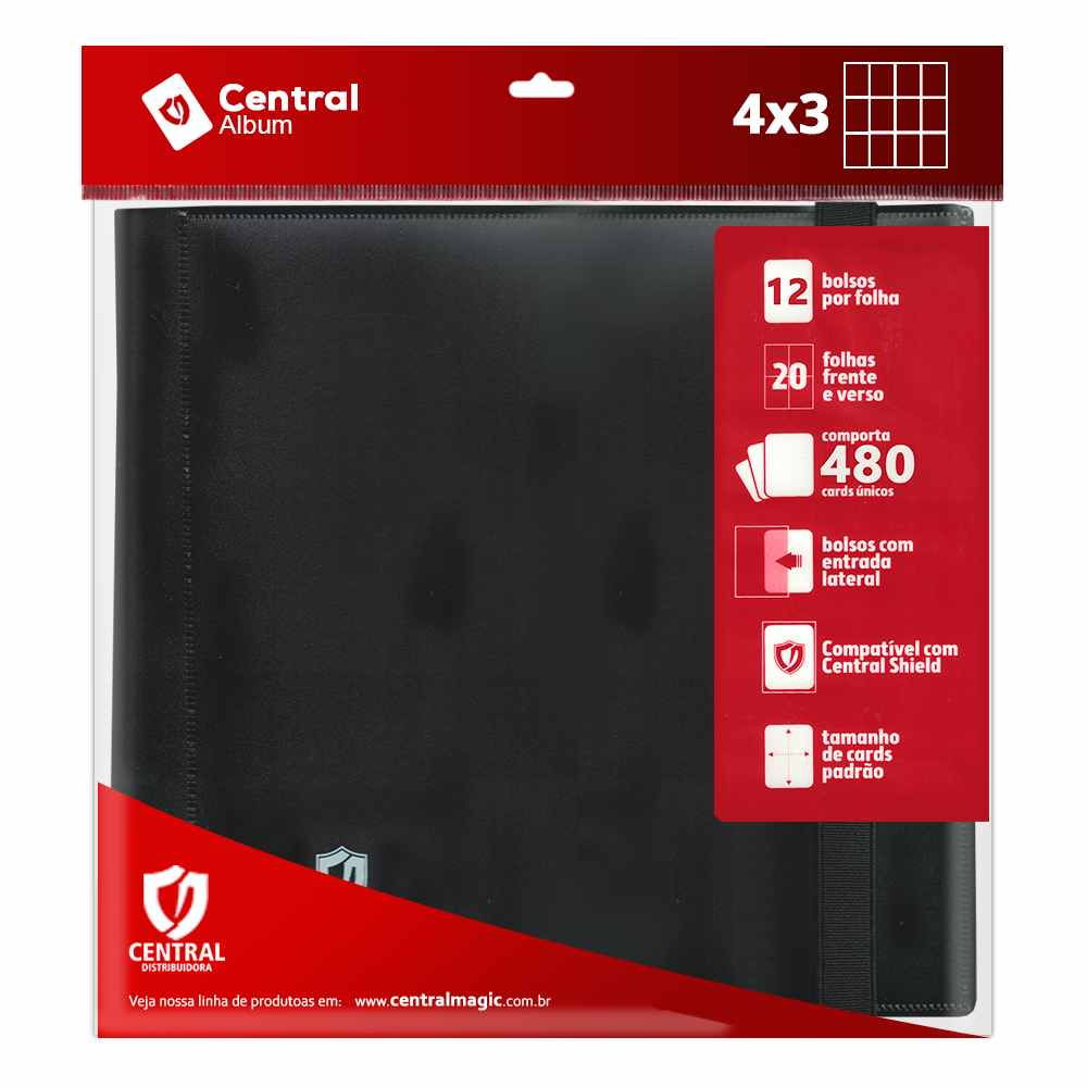 Portifolio Binder 4x3 Pocket Album Central