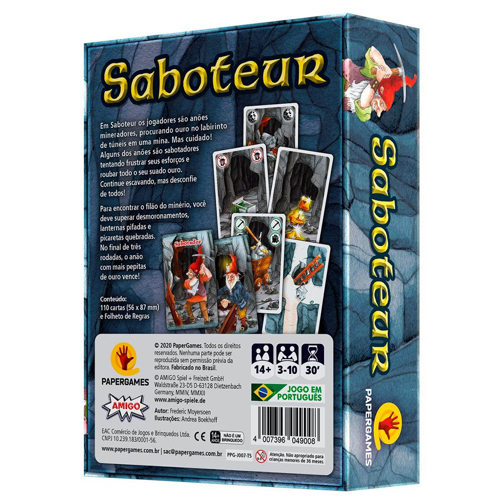 Saboteur Jogo de Cartas Paper Games
