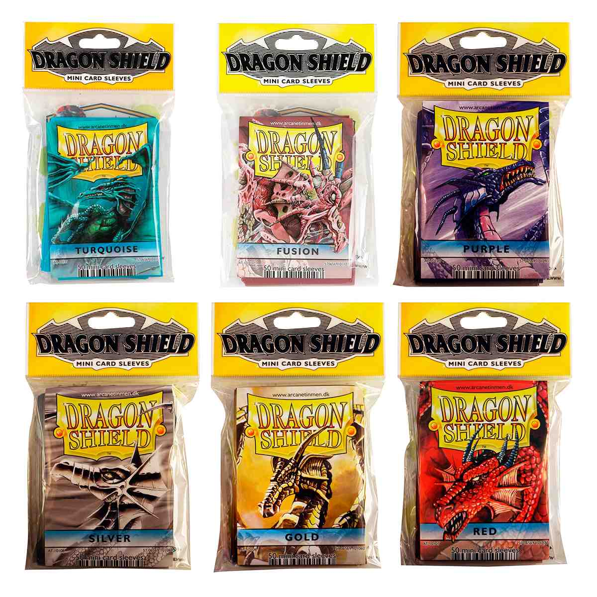 Sleeves Dragon Shield 50 Protetores Yugioh