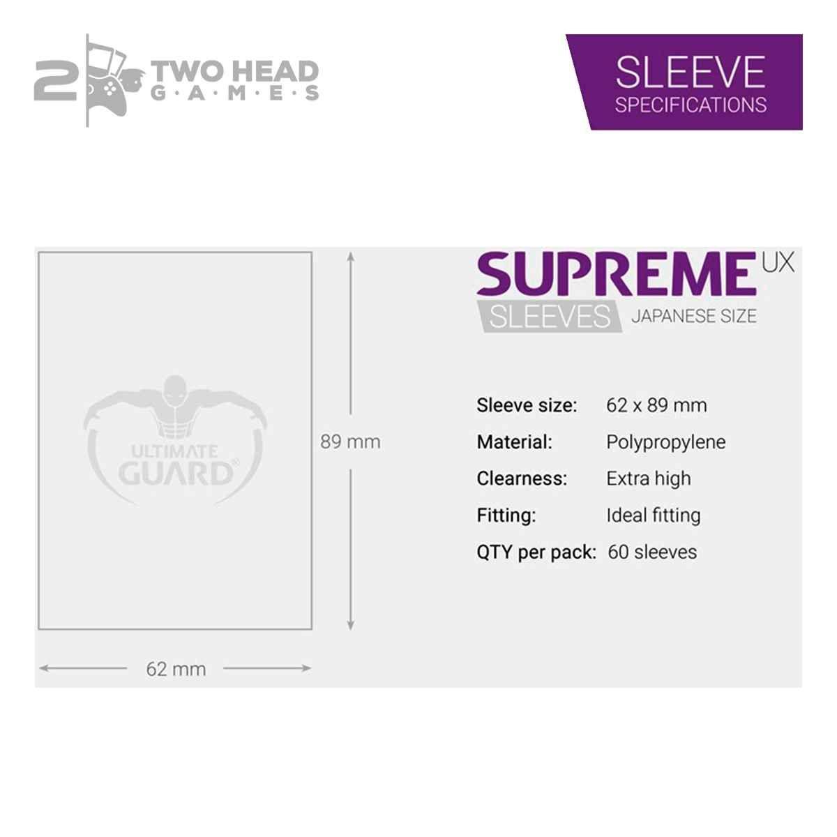 Sleeves Ultimate Guard Supreme Preto 60 Protetores