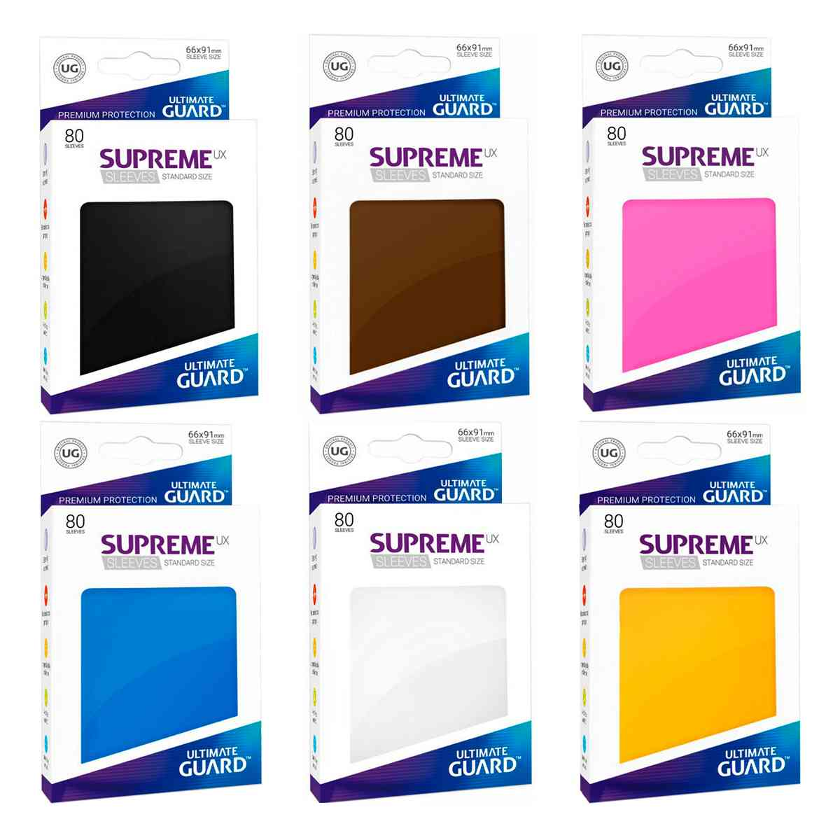Sleeves Ultimate Guard Supreme Preto 80 Protetores