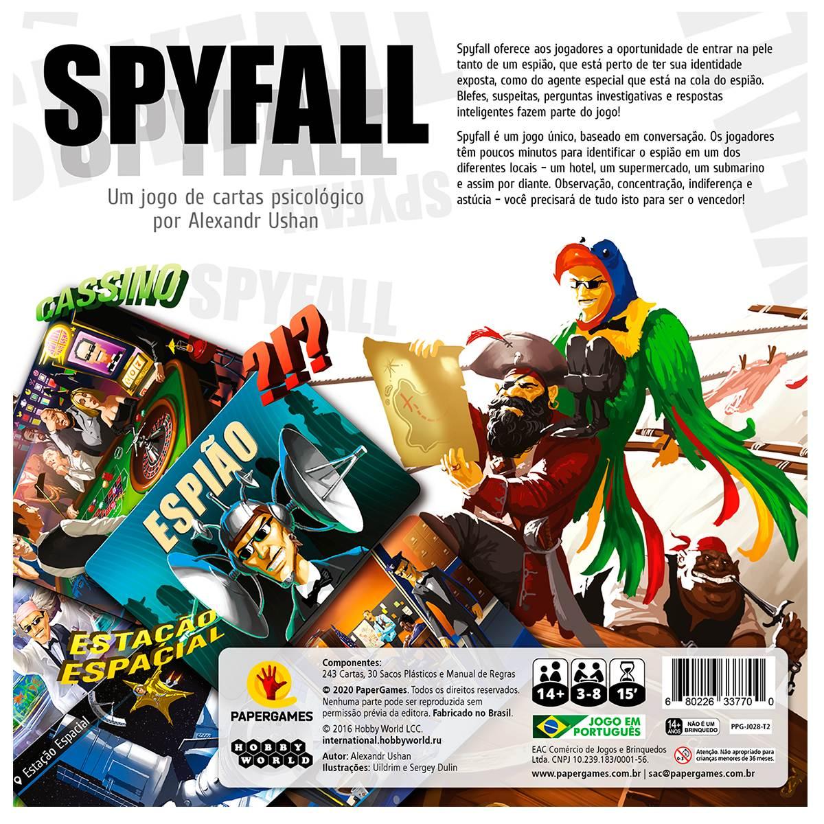 Spyfall Jogo de Cartas Paper Games