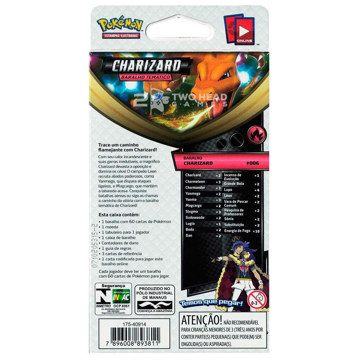 Starter Deck Pokemon Charizard Voltagem Vivida Espada e Escudo 4