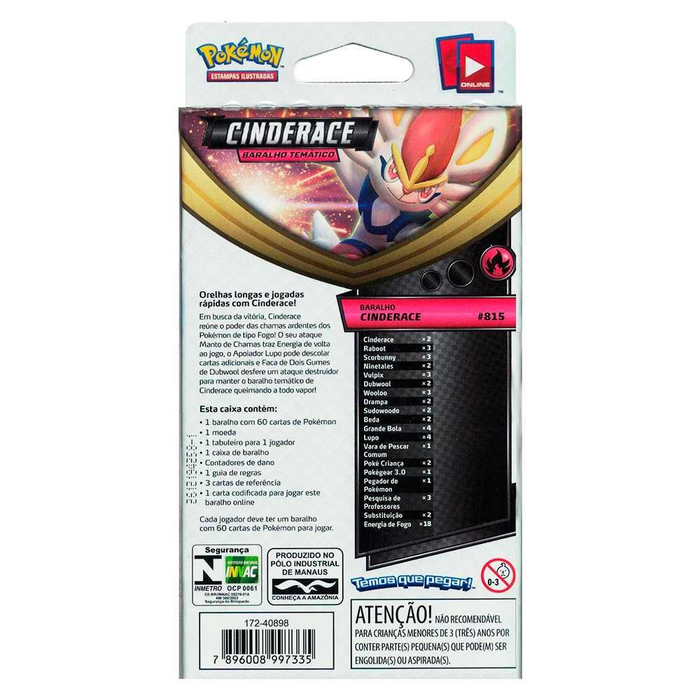 Starter Deck Pokemon Cinderace Espada e Escudo 1