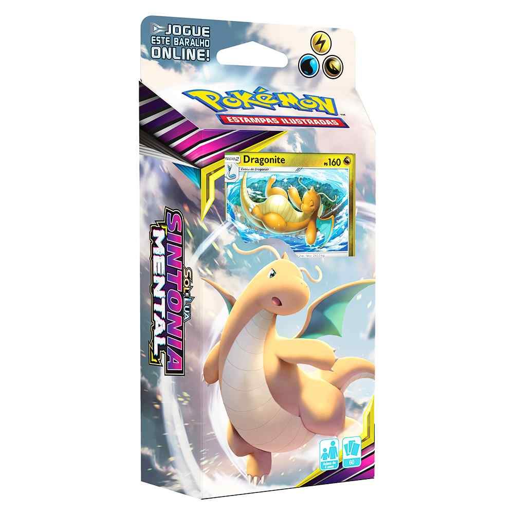 Starter Deck Pokemon Dragonite Sol e Lua 11 Sintonia Mental