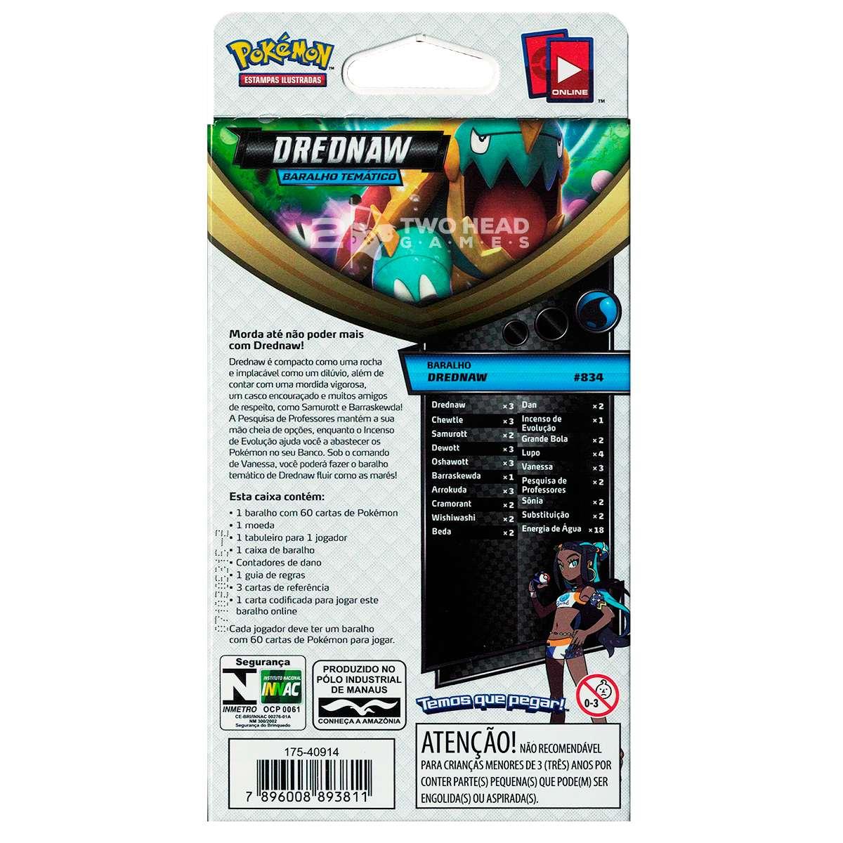 Starter Deck Pokemon Drednaw Voltagem Vivida Espada e Escudo 4