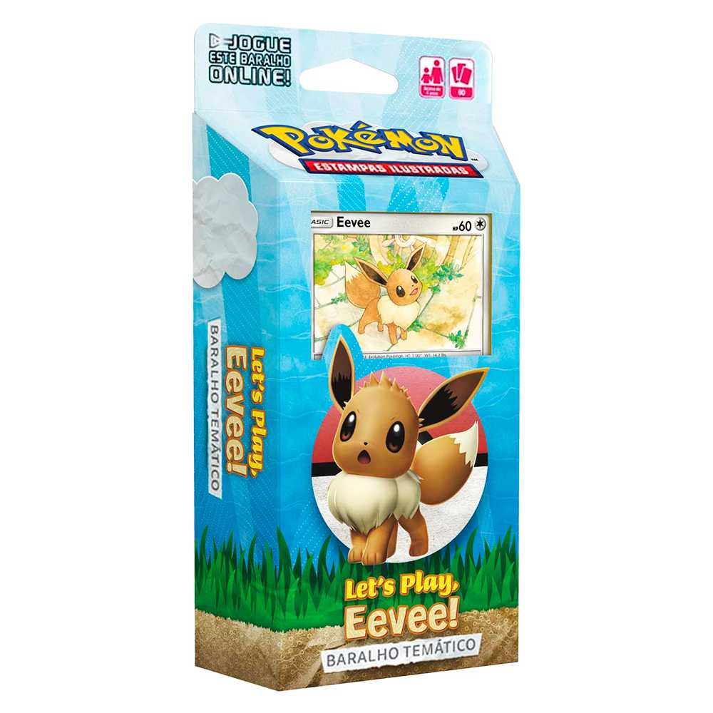 Starter Deck Pokemon Eevee Lets Play Baralho Temático