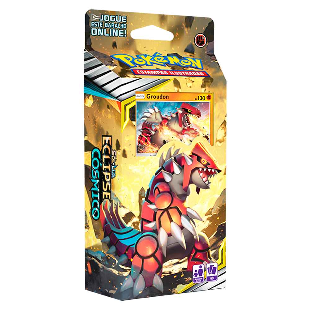 Starter Deck Pokemon Groudon Sol e Lua 12 Eclipse Cósmico