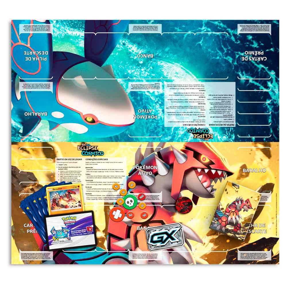 Starter Deck Pokemon Groudon Sol e Lua 12 Eclipse Cósmico