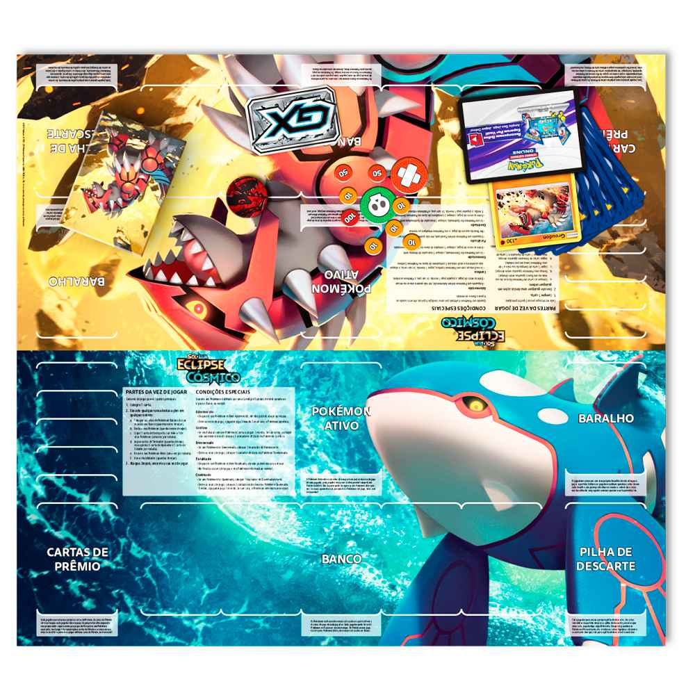 Starter Deck Pokemon Kyogre Sol e Lua 12 Eclipse Cósmico