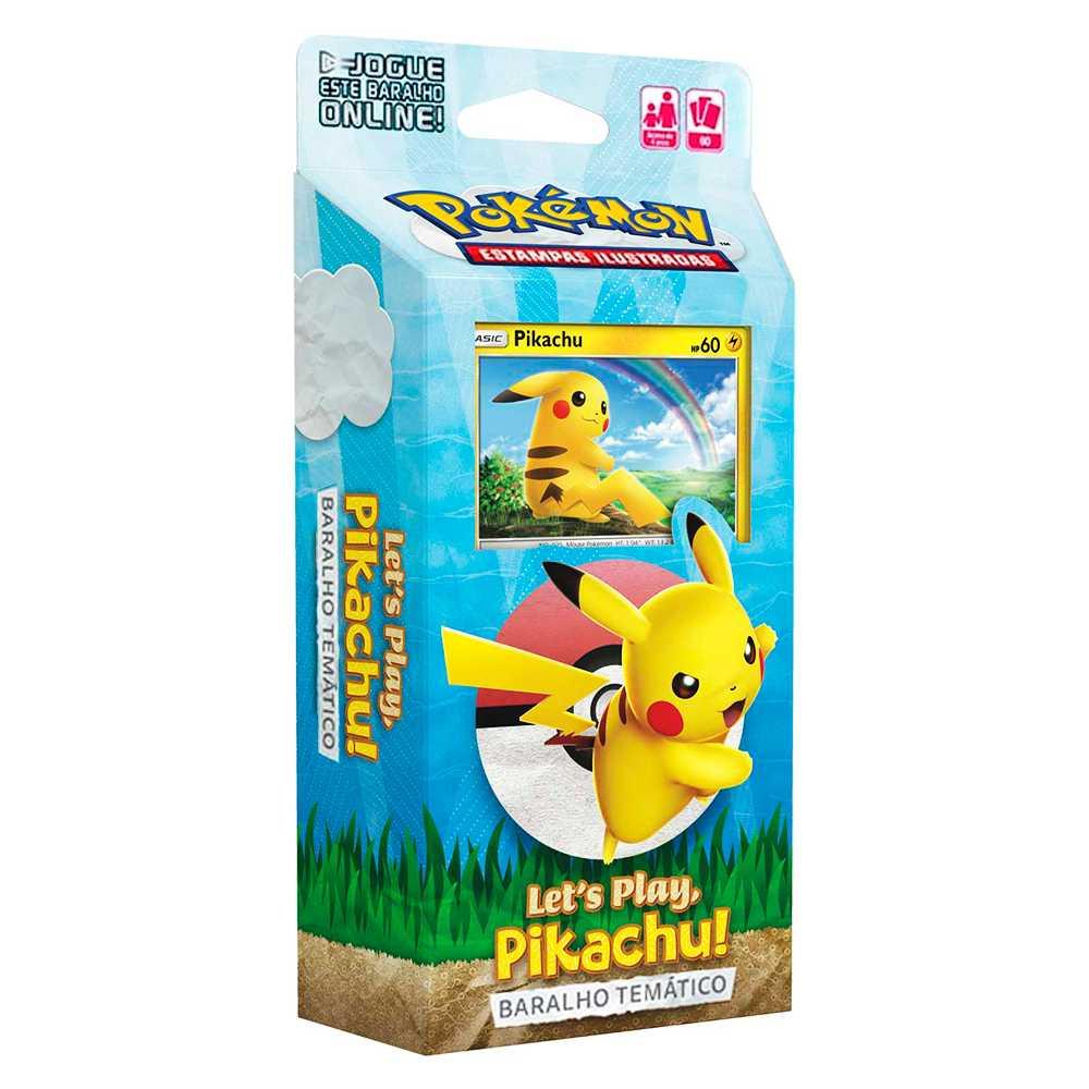 Starter Deck Pokemon Pikachu Lets Play Baralho Temático