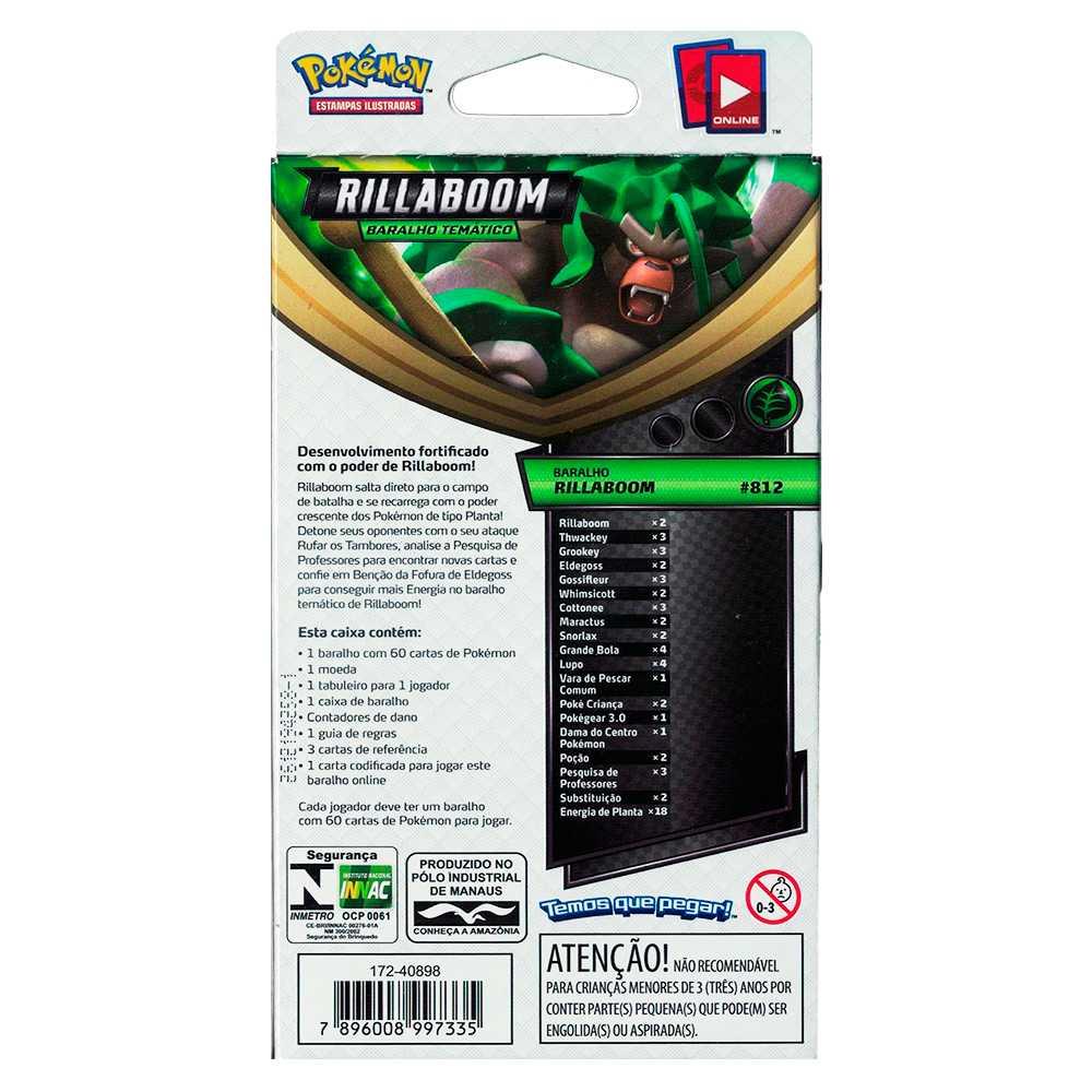Starter Deck Pokemon Rillaboom Espada e Escudo 1