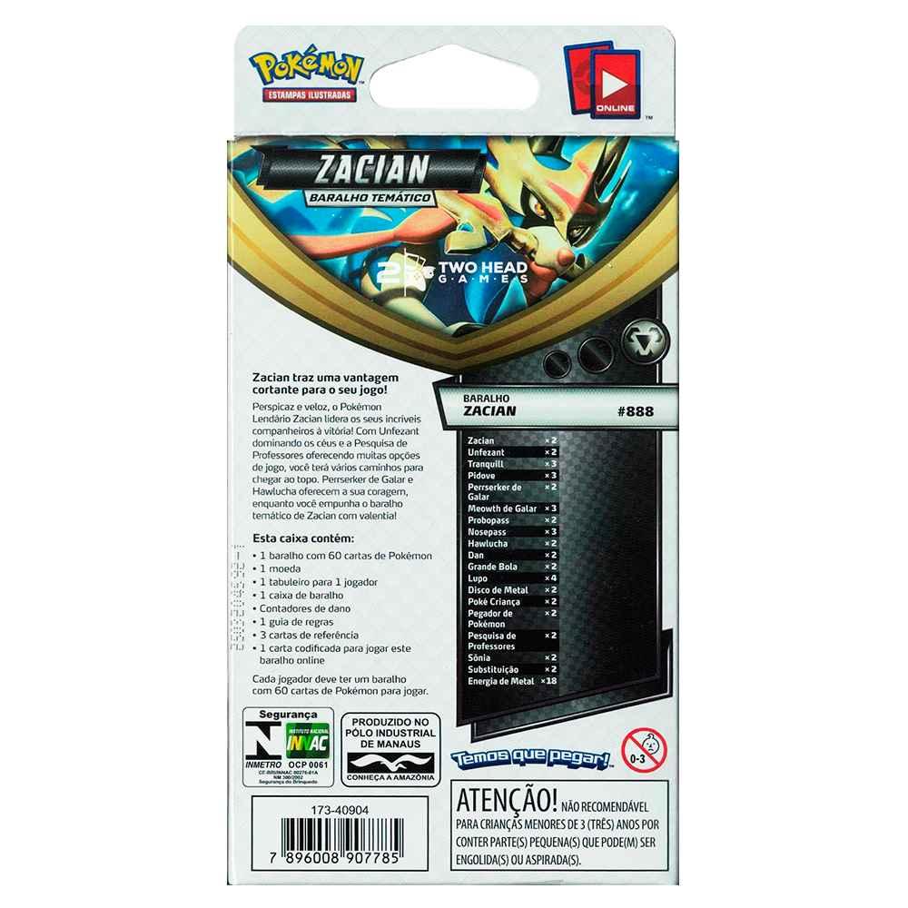 Starter Deck Pokemon Zacian Espada e Escudo 2 Rixa Rebelde