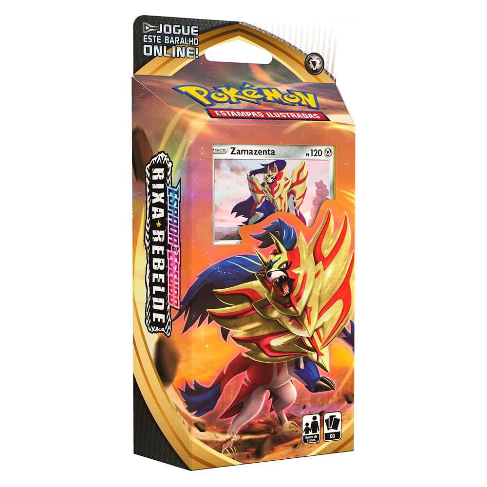 Starter Deck Pokemon Zamazenta Espada e Escudo 2 Rixa Rebelde