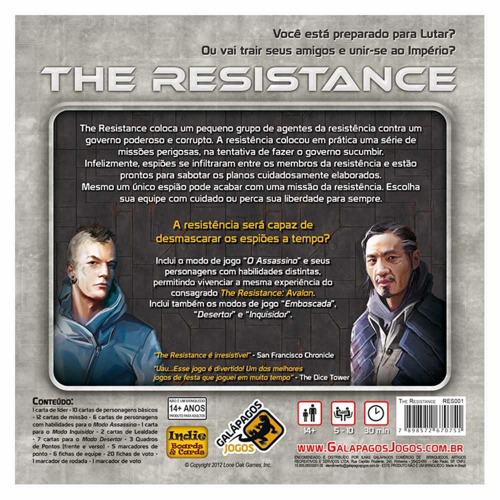 The Resistance Jogo de Cartas Galápagos
