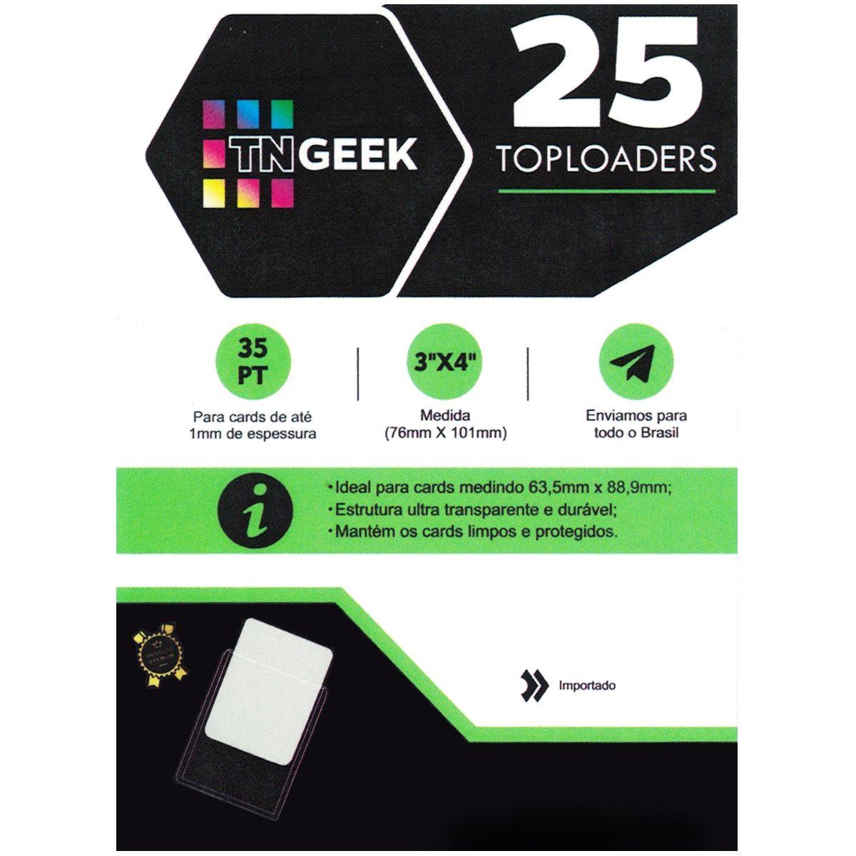 Toploader 3x4 Transparente 25 Unidades TNGeek