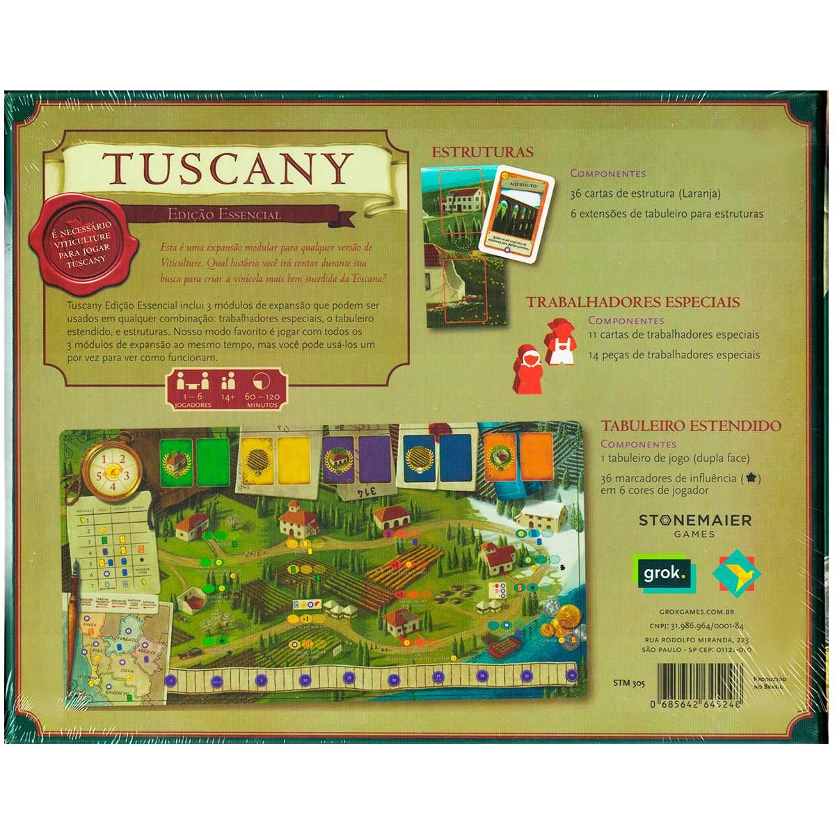 Viticulture Tuscany Edição Essencial Expansão Jogo de Tabuleiro