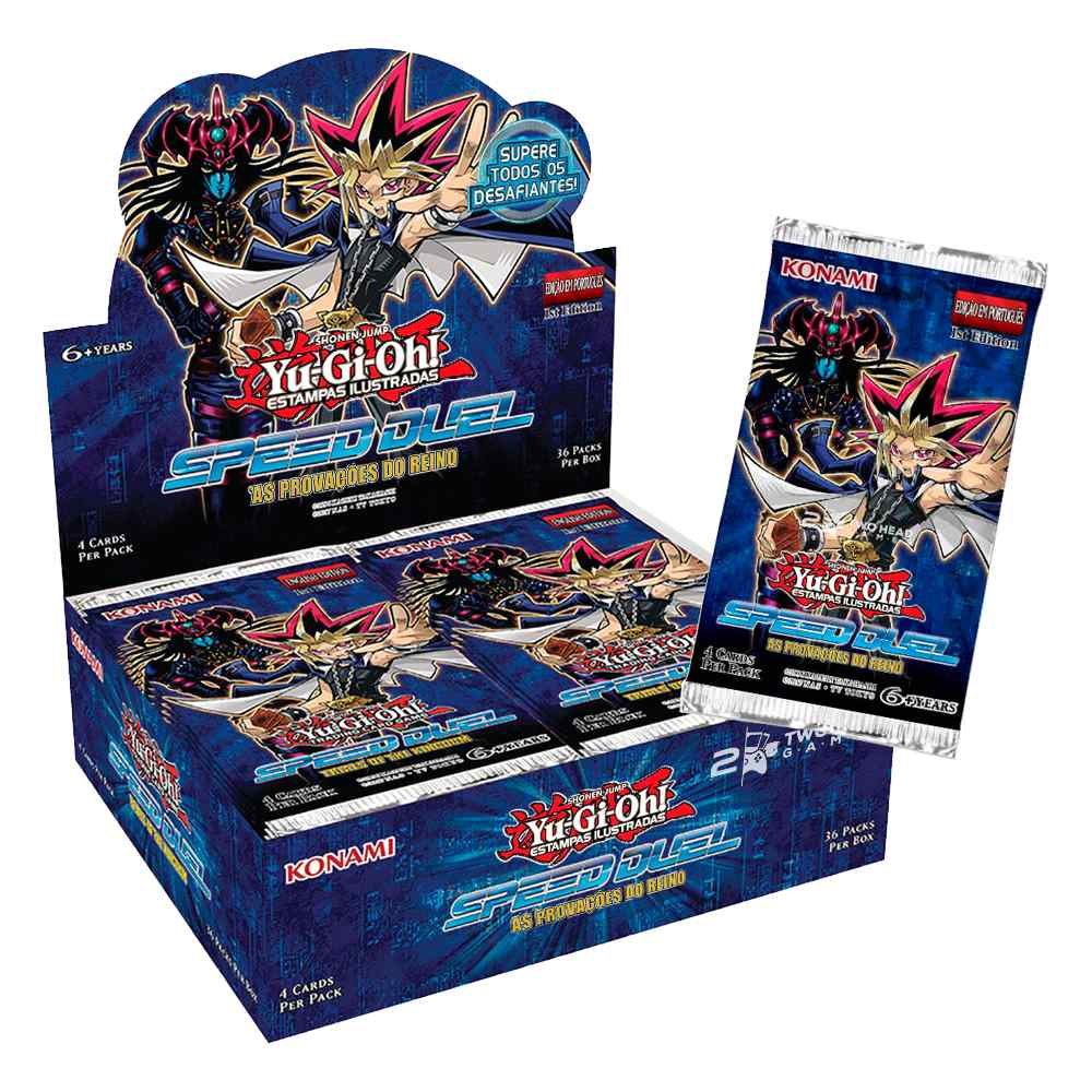 Yugioh Box Booster As Provações do Reino Speed Duel