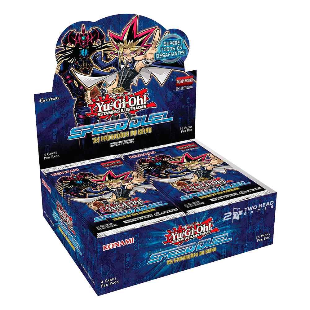 Yugioh Box Booster As Provações do Reino Speed Duel